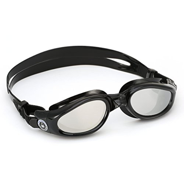 (アクアスフィア) Aqua Sphere ケイマン ミラーレンズ スイミングゴーグル 男性用 メンズ (レギュラーフィット) (ブラック)