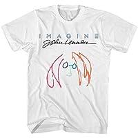 HUO ZAO Graphic of John Lennon Shirt for Men
