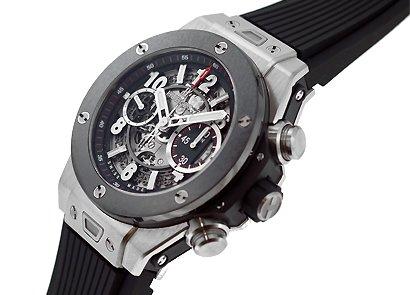 [ウブロ]HUBLOT 腕時計 411.NM.1170.RX ビッグバン ウニコ ブラックセラミックベゼル TI スケルトン文字盤 自動巻 ラバー メンズ [並行輸入品]