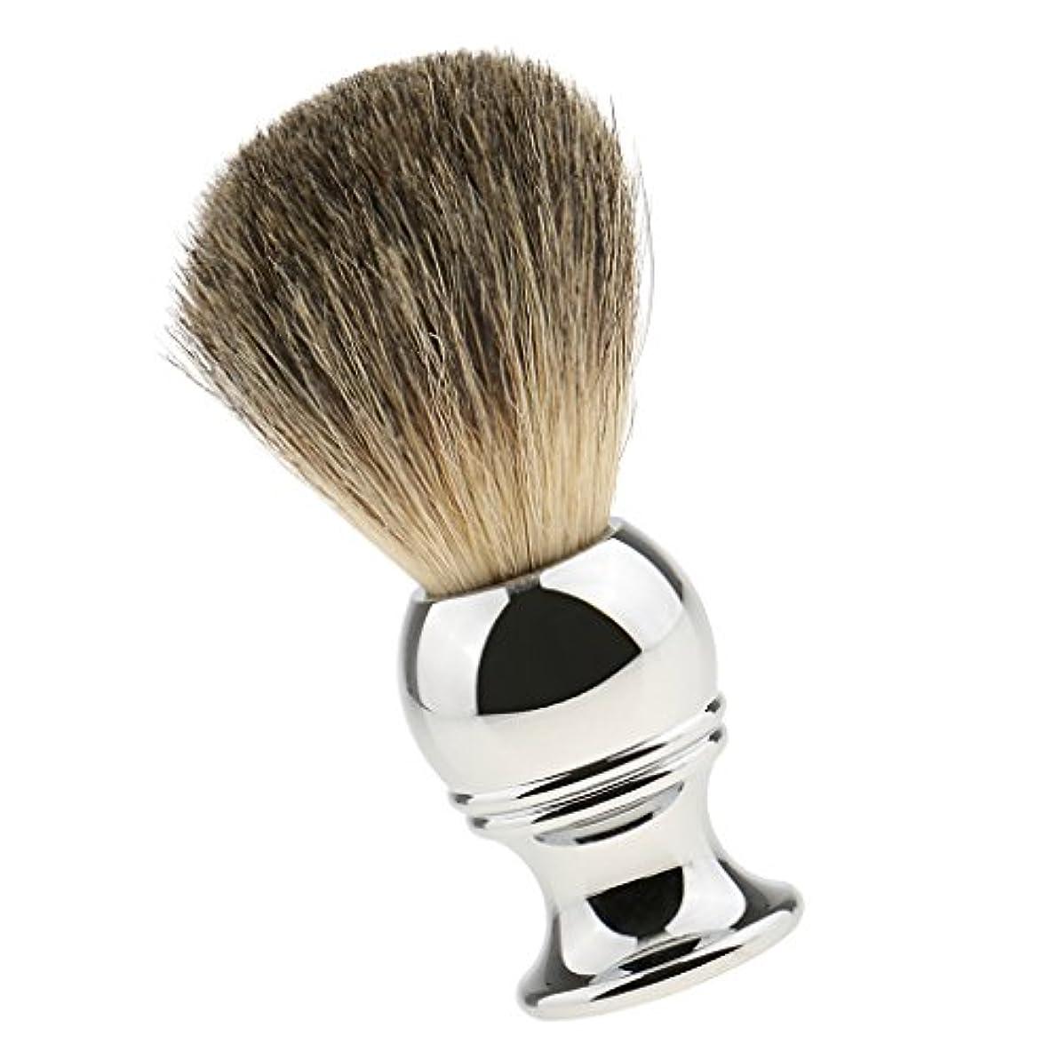 予言する味付けヒロイック男性用 高密度 シェービングブラシ ロングハンドル 髭剃り 洗顔 ブラシ シェーブツール