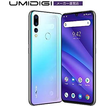 UMIDIGI A5 Pro SIMフリースマートフォン Android 9.0 6.3インチ FHD+水滴型ノッチ付きディスプレイ 16MP+8MP+5MPトリプルカメラ 4150mAh 4GB RAM + 32GB ROM Helio P23オクタコア DSDV対応 グローバルバージョン 顔認証 指紋認証 技適認証予定 au不可 (ブルー)