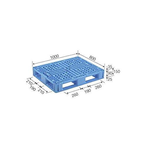 約1,100mm×1,100mm×140mm プラスチックパレット ( 樹脂 パレット ) アルパレット (H) 10枚セット