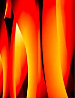 Abstract Flames Notebook: Wide Ruled 100 Sheets/200 Pages 7.44x9.69