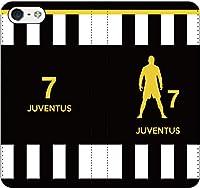 iPhone/Xperia/Galaxy/他機種選択可:サッカーシルエット手帳ケース(ホーム/ユヴェントス_7番_C) 07 iPhone8