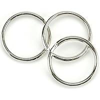 100個シルバーキーリング – ラウンドキーリング – 金属キーリング – 25 mmの直径ホームキー組織アクセサリー