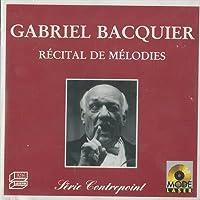 Recital de melodies Le premier jour de mai Chanson triste (1868) Extase (1874) Melodie op 23 (1879) n.3 Le secret