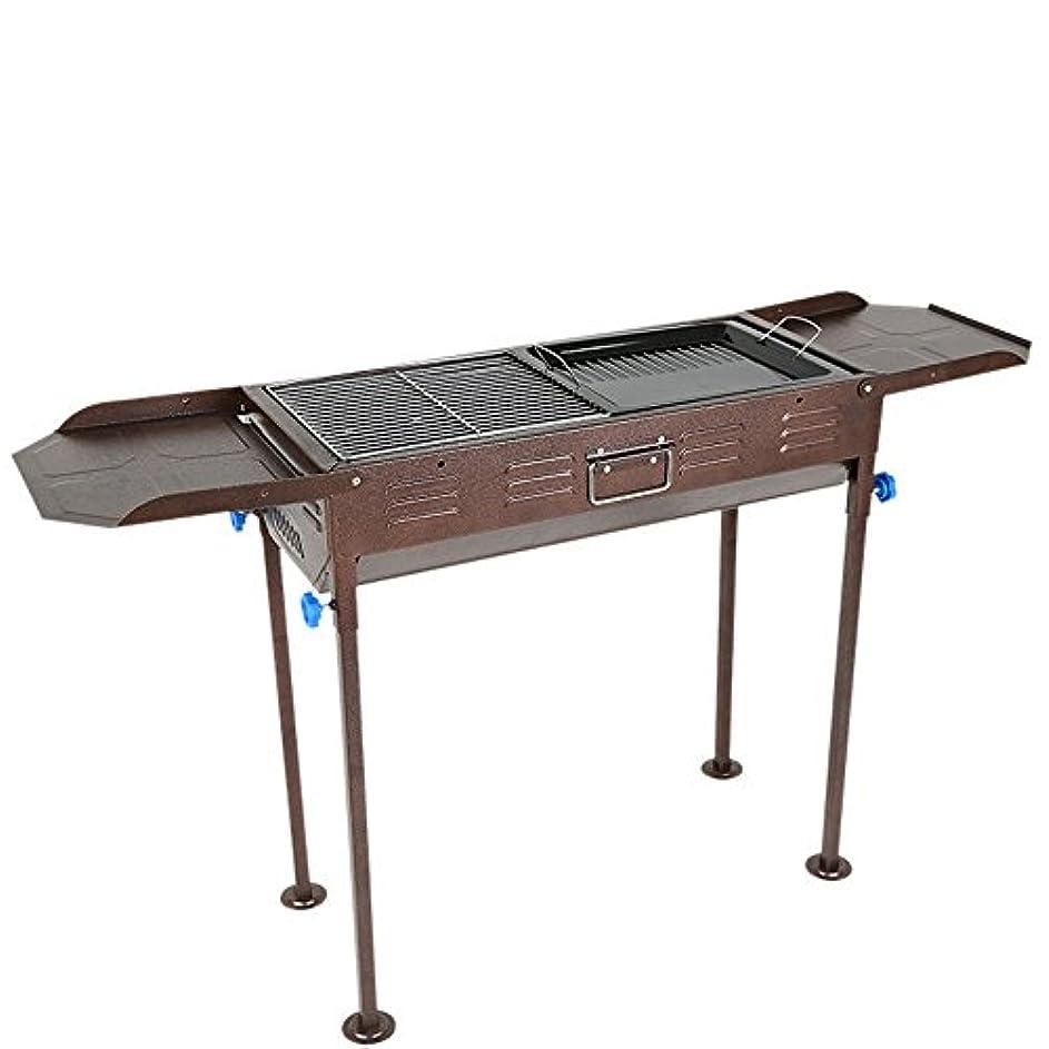 返済コードレス感動するキャンプグリルローストデュアルパーパスポータブル炭BBQストーブ屋外と家庭用ステンレス製