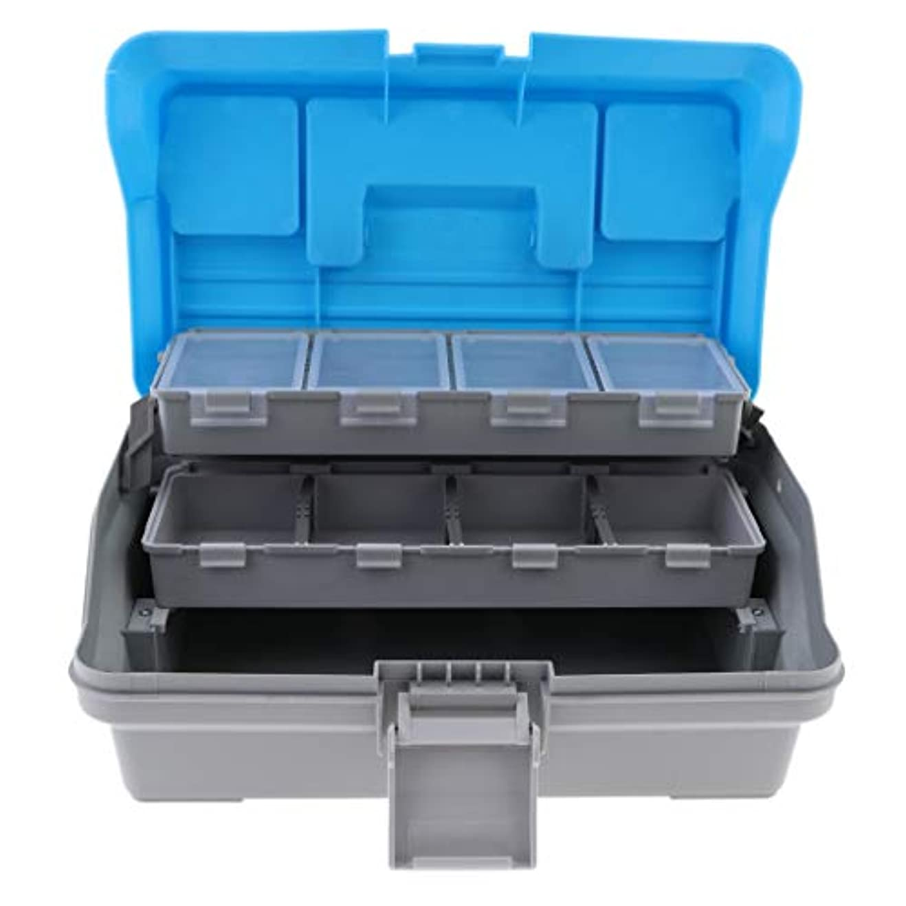 クランシーキャプテン血色の良いCUTICATE 餌収納ケース タックルボックス 釣具収納 ルアーケース ポータブル 仕掛け小物入れ 3層 防水 収納 分類 整理