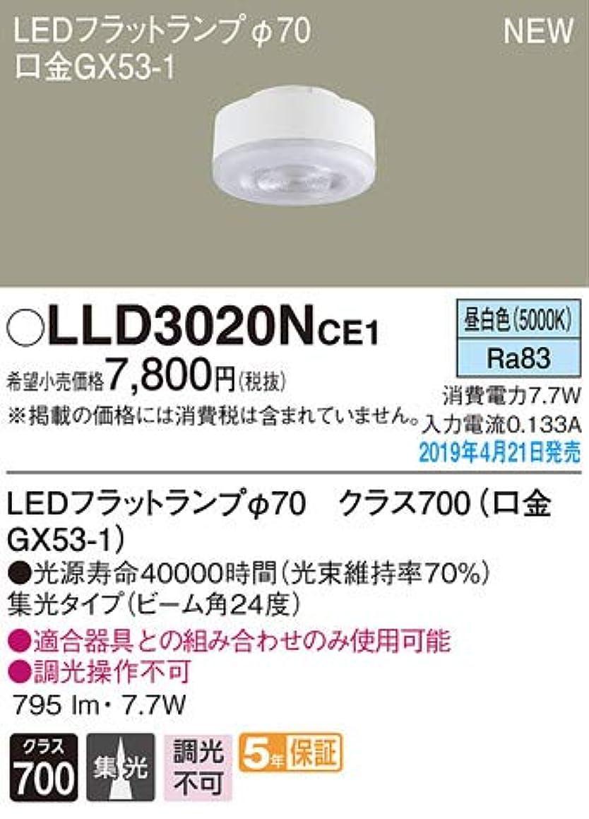 入り口暖炉ボールパナソニック(Panasonic) 交換用LEDフラットランプ(φ70) (昼白色) ビーム角24度?集光タイプ LLD3020NCE1