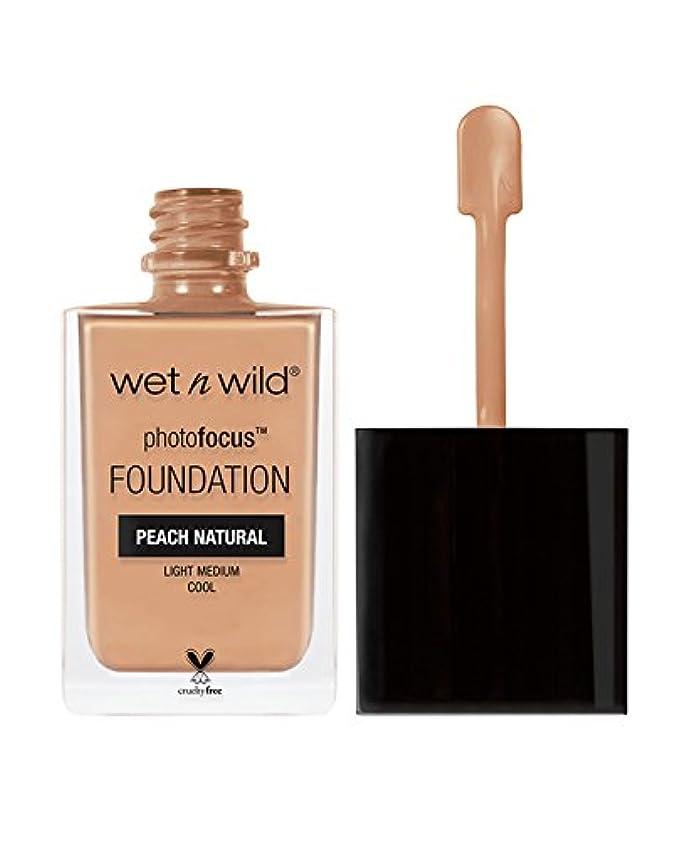 に勝るぼかす果てしないWET N WILD Photo Focus Foundation - Peach Natural (並行輸入品)
