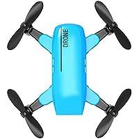 A801フライングRCドローン標準折りたたみミニリモートコントロール玩具簡単ワンボタン緊急着陸クアドコプターヘリコプター(:青)