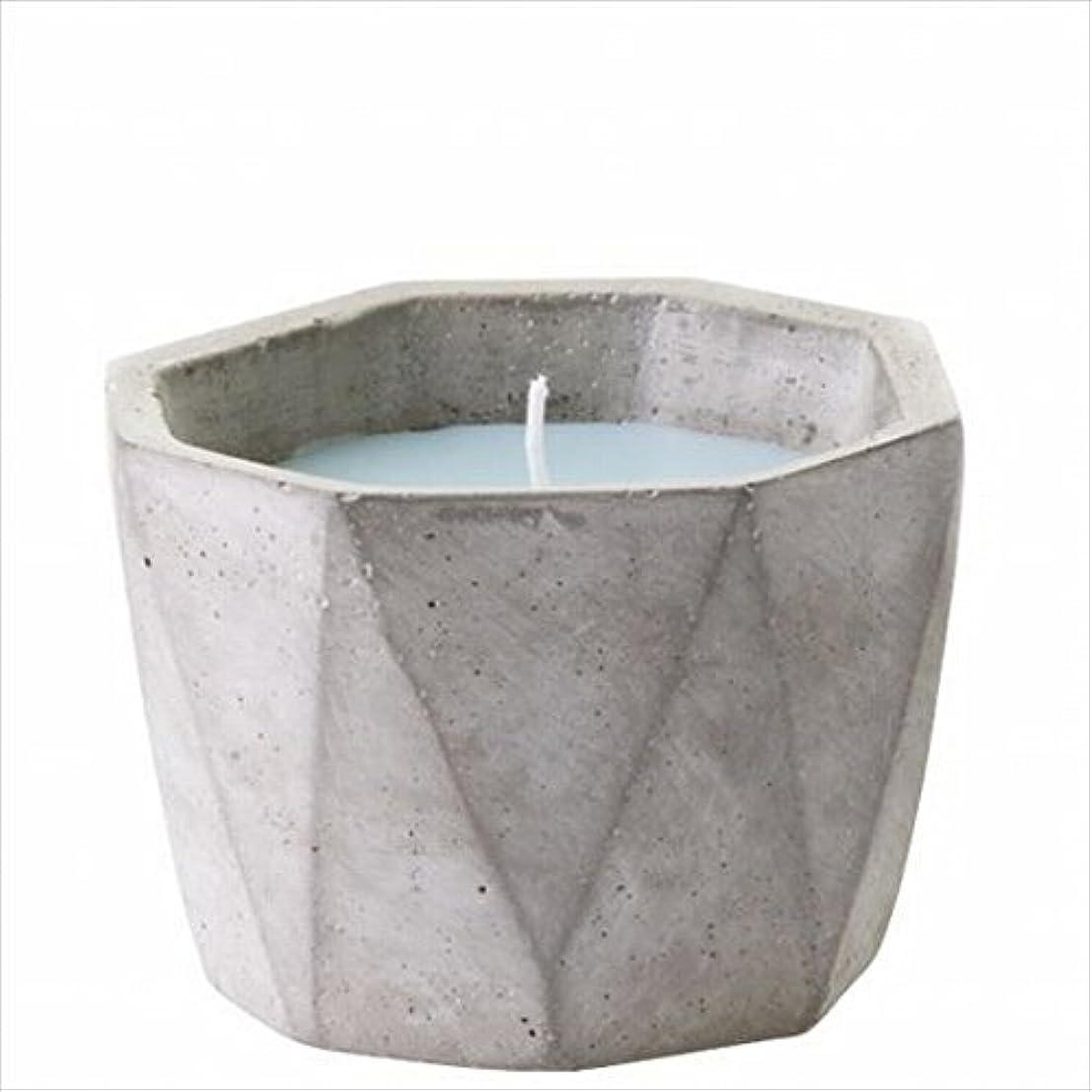 困惑するに同意する放棄されたカメヤマキャンドル(kameyama candle) POiNT A LA LiGNE セメントポットセンティッドキャンドル 「 モックオレンジミント 」