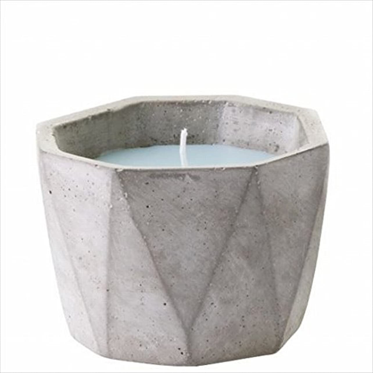 ギャザーホールド数カメヤマキャンドル(kameyama candle) POiNT A LA LiGNE セメントポットセンティッドキャンドル 「 モックオレンジミント 」