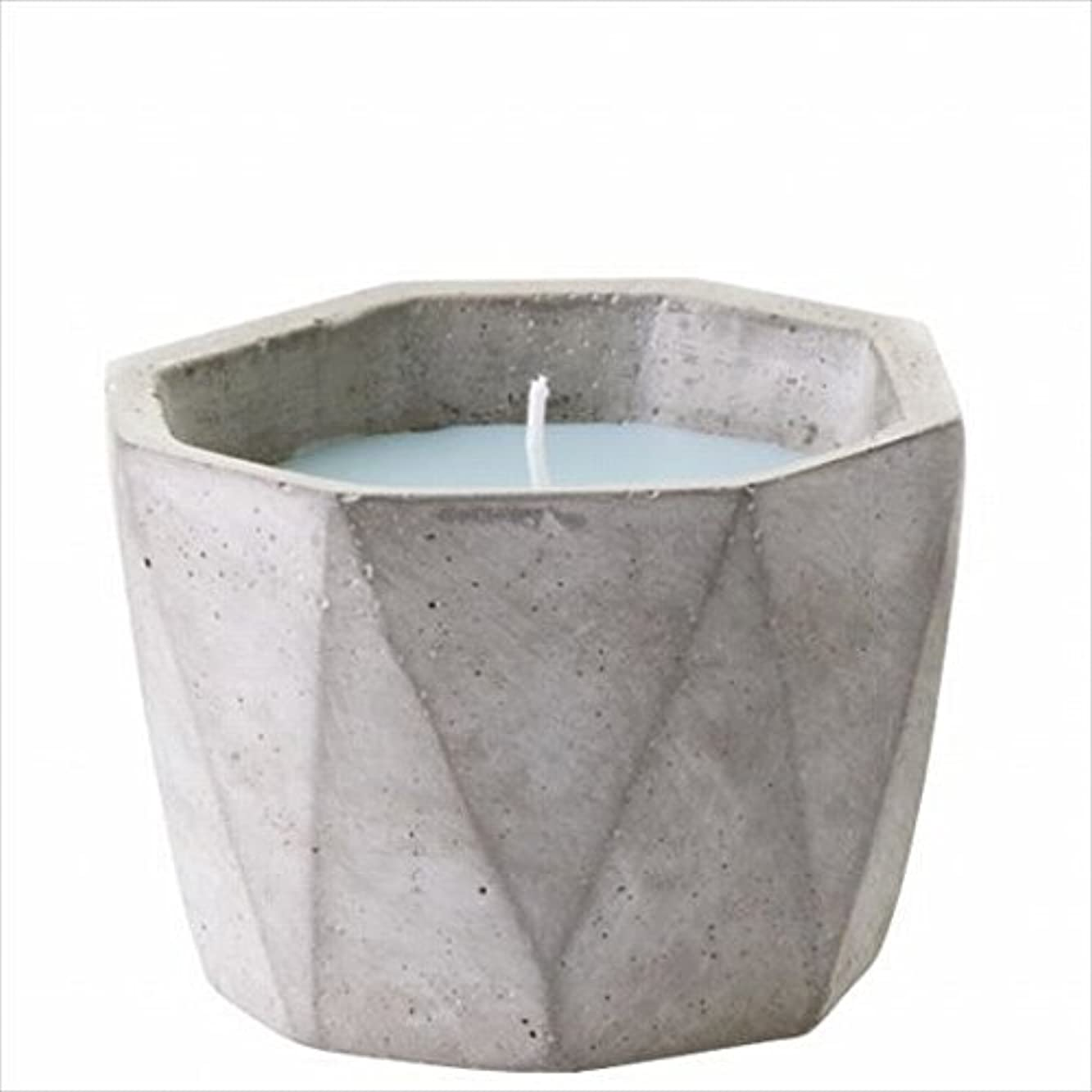 小康基礎理論フラフープカメヤマキャンドル(kameyama candle) POiNT A LA LiGNE セメントポットセンティッドキャンドル 「 モックオレンジミント 」