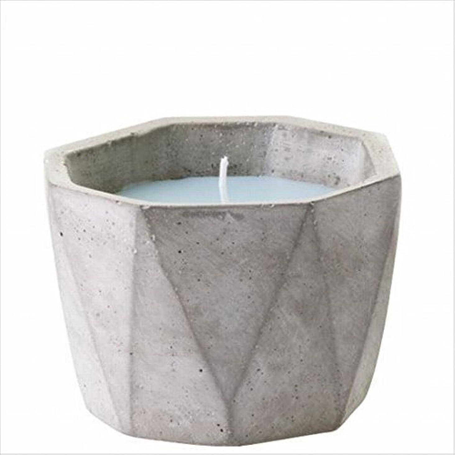 アラブ人隔離する効能カメヤマキャンドル(kameyama candle) POiNT A LA LiGNE セメントポットセンティッドキャンドル 「 モックオレンジミント 」