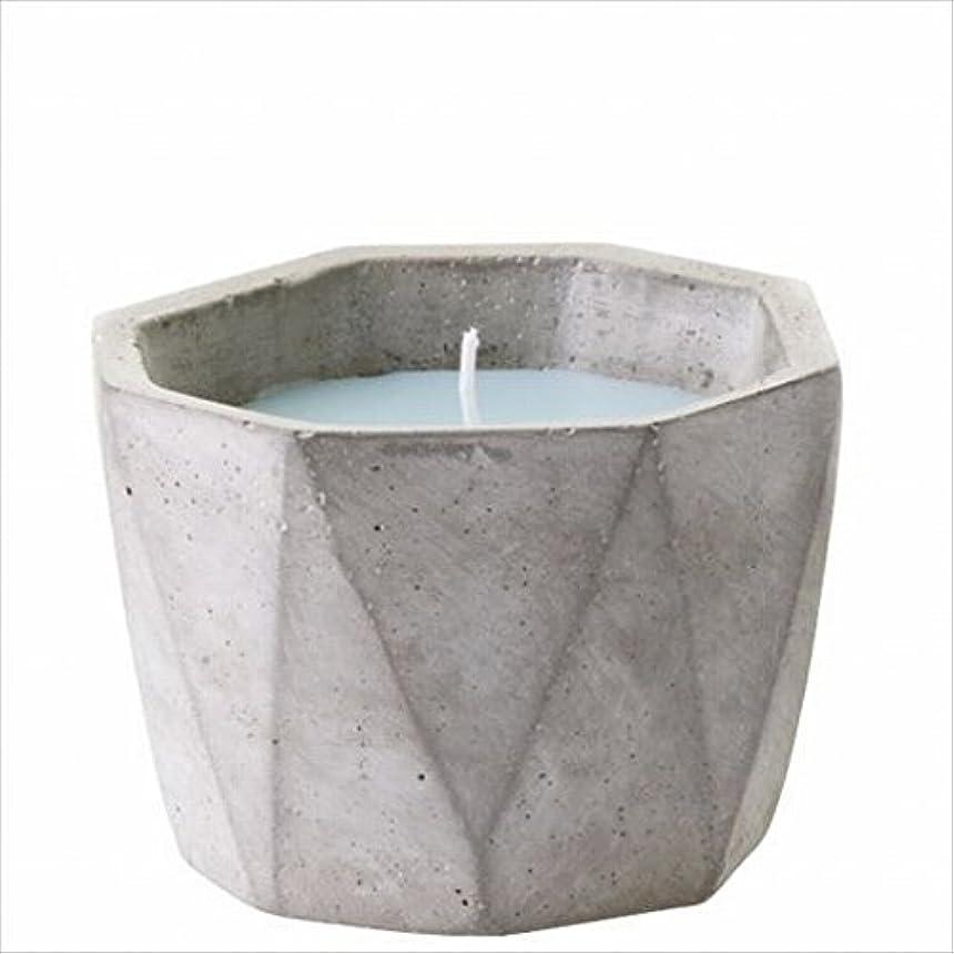 建築リズミカルな入り口カメヤマキャンドル(kameyama candle) POiNT A LA LiGNE セメントポットセンティッドキャンドル 「 モックオレンジミント 」