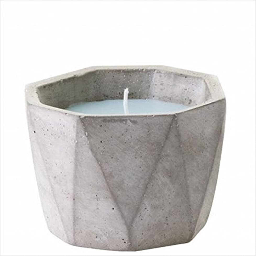 変装したふつうアーサーカメヤマキャンドル(kameyama candle) POiNT A LA LiGNE セメントポットセンティッドキャンドル 「 モックオレンジミント 」