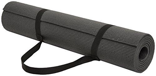 Amazonベーシック ヨガマット ブラック 6mm キャリーストラップ付