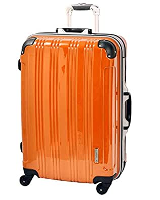 S型 オレンジ / ミラーKingdom 機内持込 スーツケース キャリーバッグ TSAロック搭載 超軽量 (1~3日用)