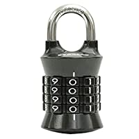 マスターロック数字の組み合わせパスワードロック亜鉛合金セキュリティロックスーツケース荷物コード化ロック食器棚キャビネットロッカー南京錠 (Color : 1535 Black)