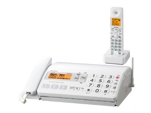 シャープ デジタルコードレスファックス 子機1台付き ホワイト系 UX-D20CL-W