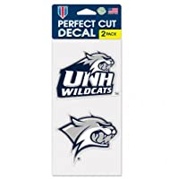 """New Hampshire Wildcats 4"""" x8"""" Die Cut Decal (2つ–4"""" x4""""デカール)"""