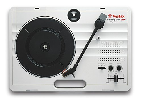 Vestax ポータブルターンテーブル handytrax USB WHITE ホワイト USB出力機能/録音ソフト付き スピーカー内蔵