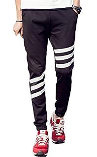 コズーン)KO ZOON B15 メンズ ロング パンツ ジョガーパンツ スウェット ズボン ジャージ ボトム 3本 ライン ストリート スポーツ  メンズファッション M ~ XXXXXL