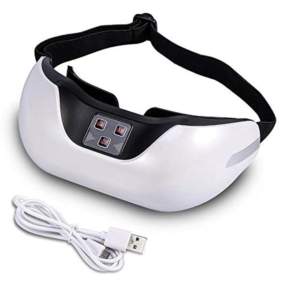 鮮やかな沼地義務づけるUsb 3d充電式電気緑色光鍼灸マッサージ器、疲労ヘッドストレスリリーフトリートメント、目の保護器具ツール (Color : White)