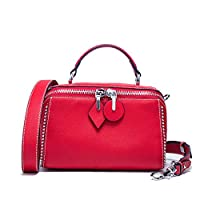 65d9e4e117e5 レディース通勤ハンドバッグショルダーメッセンジャーバッグファッションシンプルなジョーカートートバッグ (色 : 赤
