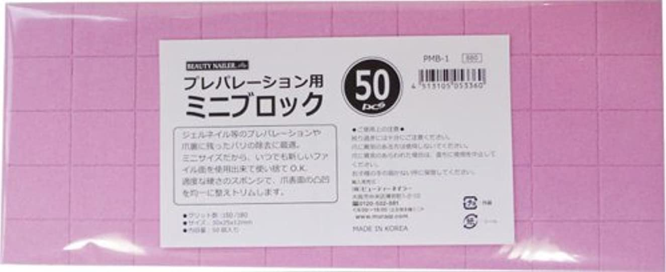 頭痛エスニック効果ビューティーネイラー 爪やすり プレパレーションミニブロック 50pcs PMB-1