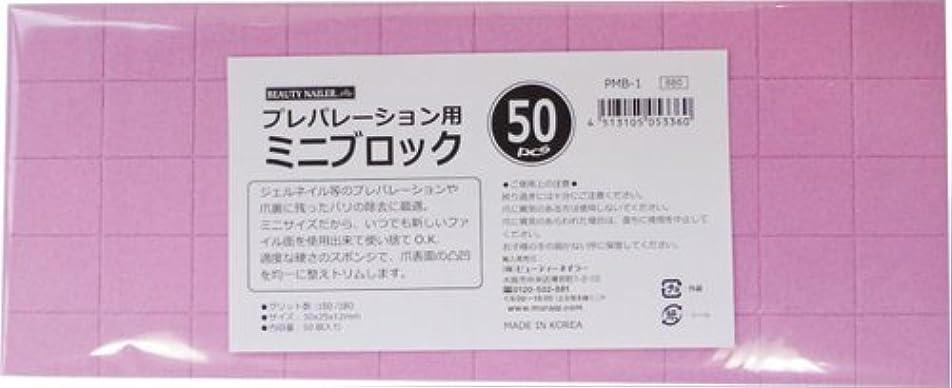 発表本部手錠ビューティーネイラー 爪やすり プレパレーションミニブロック 50pcs PMB-1