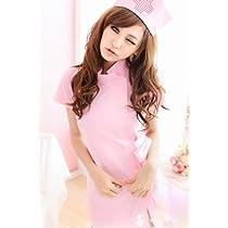 コスプレ衣装 ナース服ピンク2点セット フリーサイズ~コミケ・ステージ衣装・制服・コスプレ用