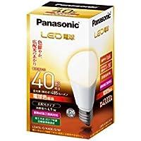 パナソニック LED電球 口金直径26mm 電球40W形相当 電球色相当(4.9W) 一般電球?広配光タイプ 密閉形器具対応 LDA5LGK40ESW