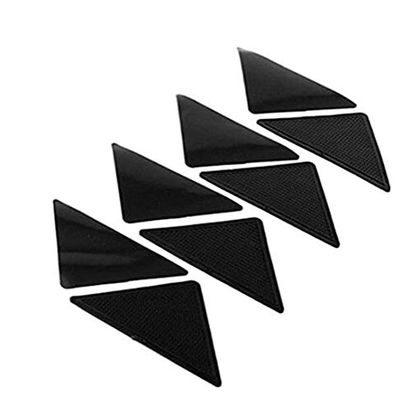 簡潔な可塑性硬化するSwiftgood 4個のアンチスキッドカーペットマット滑り止め小さなコーナー三角パッド洗える