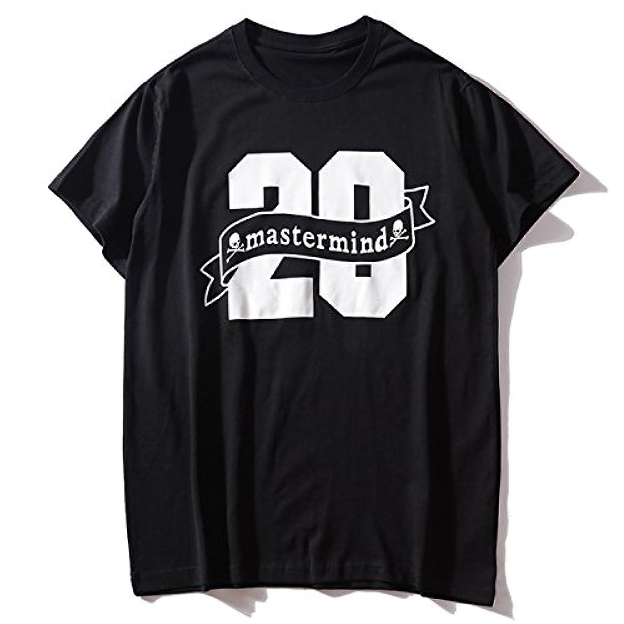 読みやすい管理者パールmastermind JAPAN マスターマインドジャパン メンズ ファッション 簡約 髑髏 プリント カッコイイ Tシャツ 半袖 男女兼用