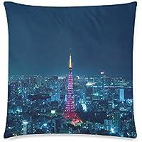 可愛い 子供 ?京タワーの夜景 座布団 45cm×45cm可愛い 子供 ?京タワーの夜景 座布団 45cm×45cm