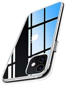 RANVOO iphone 11 ケース クリア 耐衝撃 6.1インチ 対応 衝撃吸収 高透明 落下防止テストクリア 米軍MIL規格取得 2019 モデル ガラスフィルム対応 アイフォン カバー カメラ保護 すり傷防止 滑り止め おしゃれ ワイヤレス充電対応 (クリア)