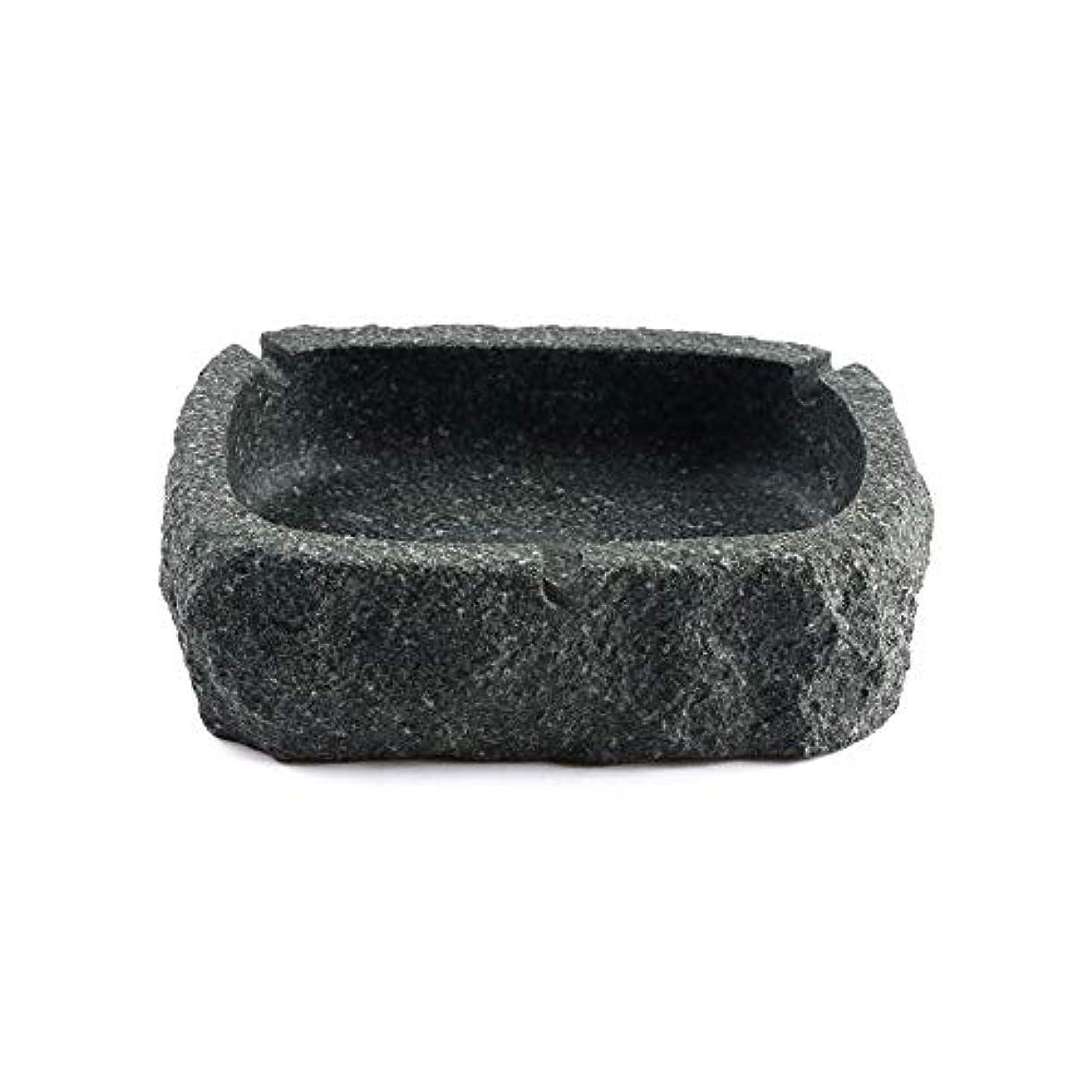 回転落胆する似ているパーフェクトブルーストーン灰皿ブラック灰皿