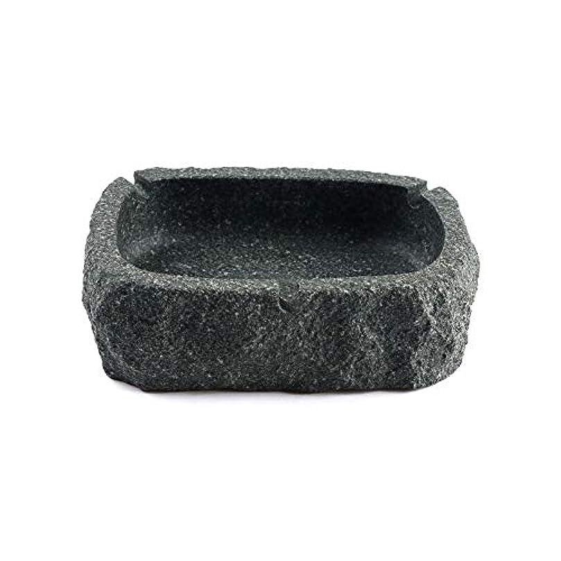 ねじれ耕す有名なパーフェクトブルーストーン灰皿ブラック灰皿