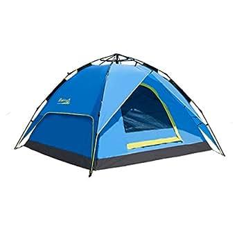 (マキノ)Makino 2-3人 アウトドア キャンプ インスタント ワンタッチ テント 防撥水 日焼け止め 0087 ブルー