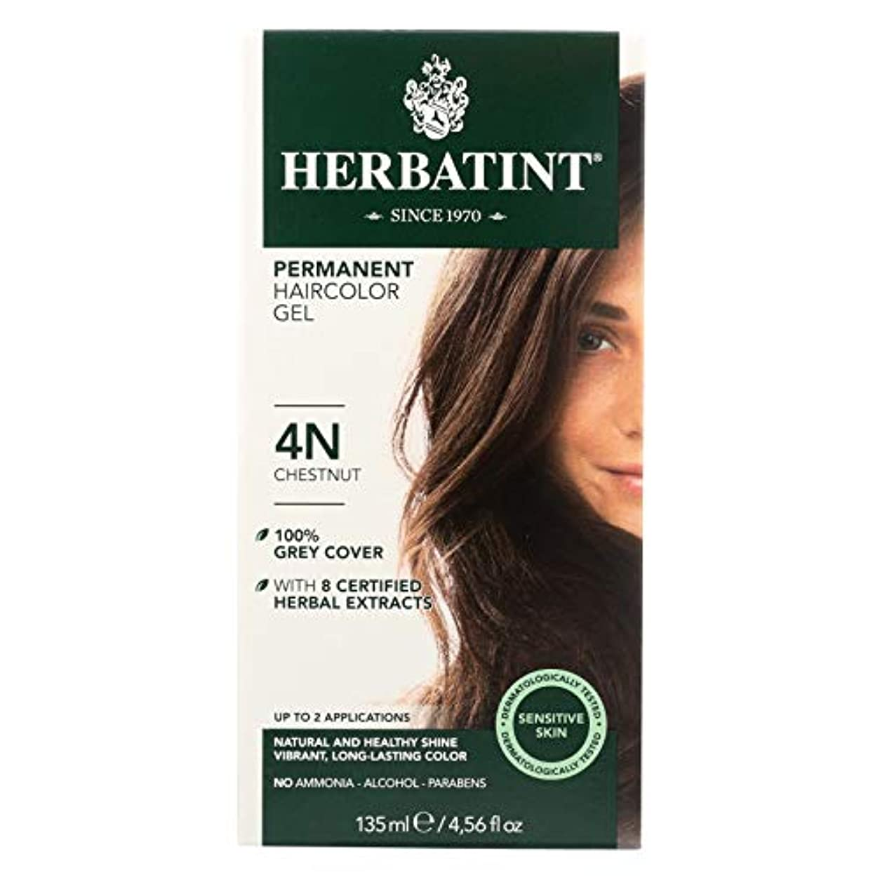 お風呂マダム悪の海外直送品Herbatint Permanent Chestnut (4n), 4 Oz by Herbatint