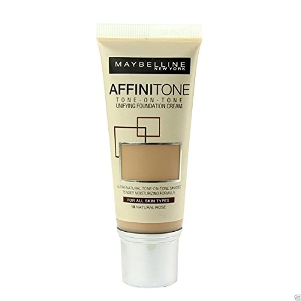 マージスペイン語備品Maybelline Affinitone Perfecting & Protecting Foundation 18 Natural Rose by Maybelline