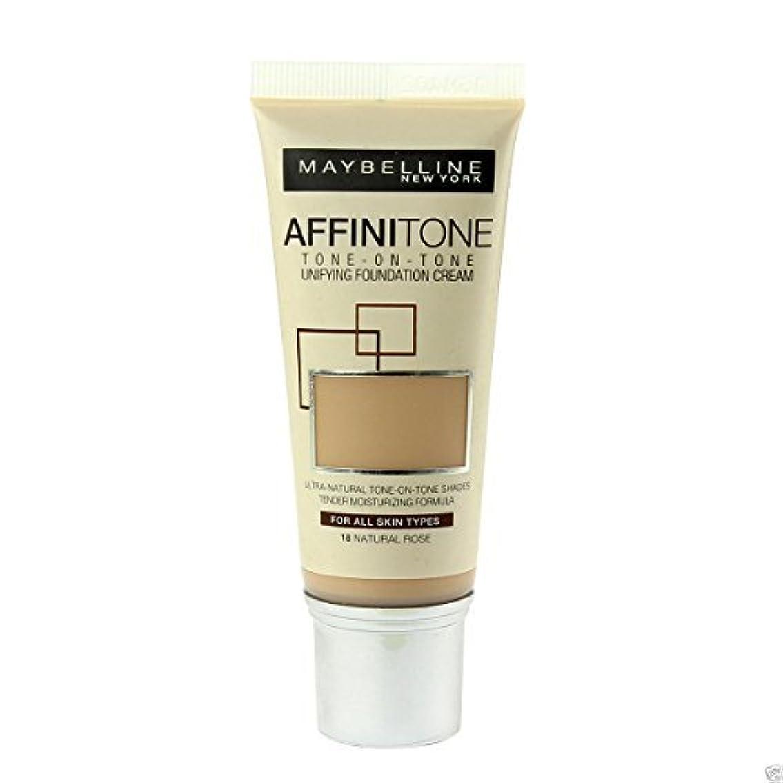 シール有名人昼食Maybelline Affinitone Perfecting & Protecting Foundation 18 Natural Rose by Maybelline