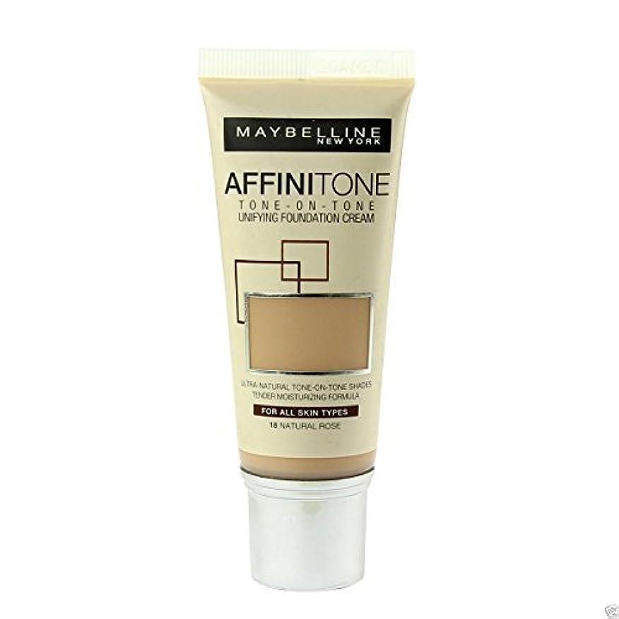 不毛マリン手のひらMaybelline Affinitone Perfecting & Protecting Foundation 18 Natural Rose by Maybelline