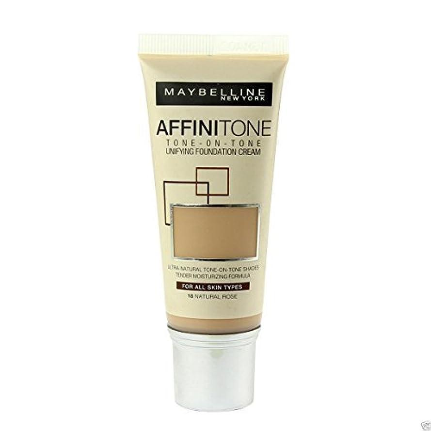 切り離す養うパイントMaybelline Affinitone Perfecting & Protecting Foundation 18 Natural Rose by Maybelline