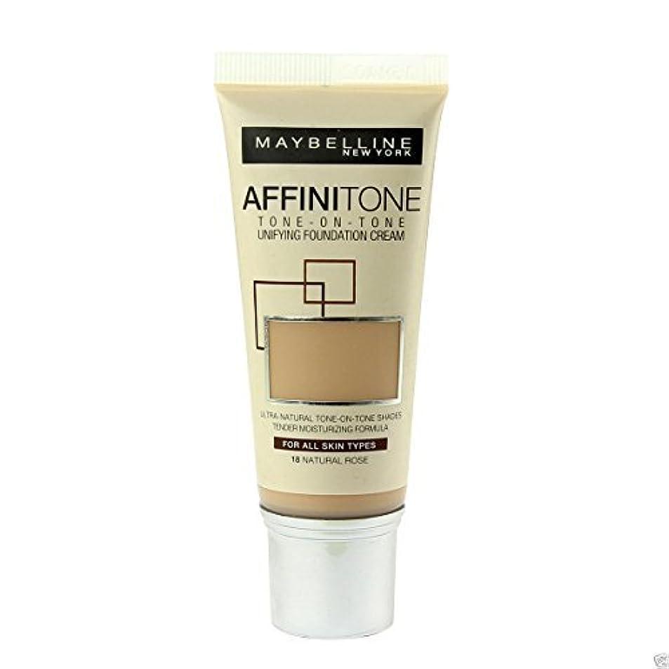 不正確性別ミリメートルMaybelline Affinitone Perfecting & Protecting Foundation 18 Natural Rose by Maybelline