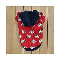 ShiSyan ペットの子犬暖かいストレッチセーターフリースのフード付きのVIP VIPテディ (Color : 4, Size : M)