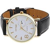 Unisex Fashion Trend Student Leather Belt Quarts Wrist Watch