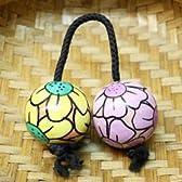 アジアの楽器 パチカ アサラト 花柄 イエローMIX 単品 アジアン雑貨 [並行輸入品]